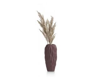 Vase en céramique violet effet drapé