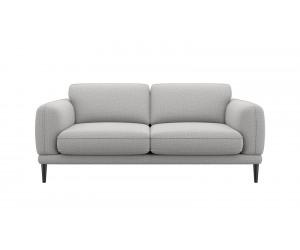 Canapé 2,5 places confortable et contemporain en tissu gris