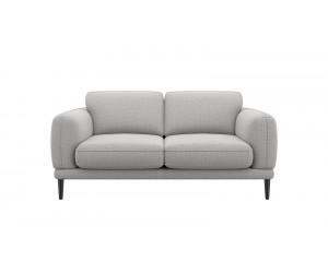 Canapé 2 places confortable et contemporain en tissu gris