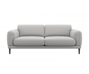 Canapé 3 places confortable et contemporain en tissu gris