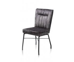 Chaise contemporaine en tissu gris