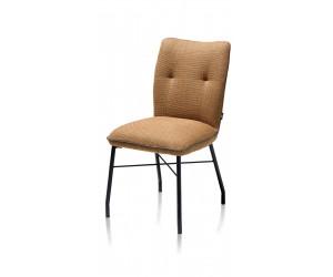 Chaise contemporaine et confortable en tissu marron