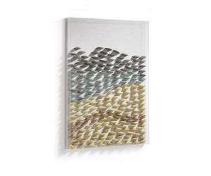 Tableau moderne et naturel avec des pierres colorées