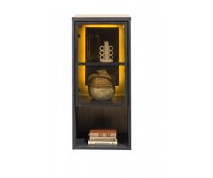 Etagère vitrée avec éclairage LED style moderne et industriel