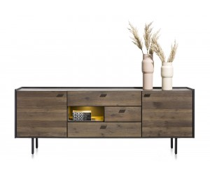 Buffet minimaliste et authentique en bois de chêne foncé