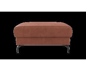 Pouf moderne et minimaliste en velours côtelé terracotta