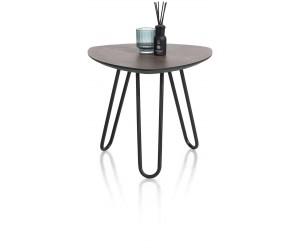 Table d'appoint scandinave et contemporaine couleur rouille