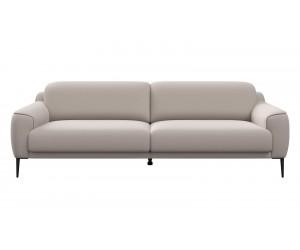 Canapé contemporain 3,5 places en tissu gris clair