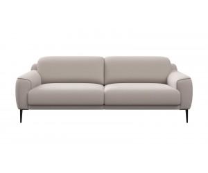 Canapé contemporain 3 places en tissu gris clair