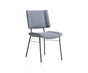 Chaise moderne au design carré en tissu bleu ciel