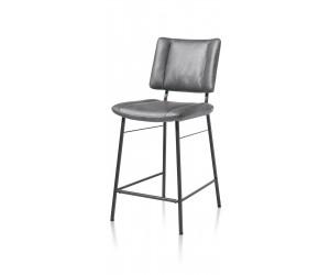 Chaise de bar moderne en tissu anthracite