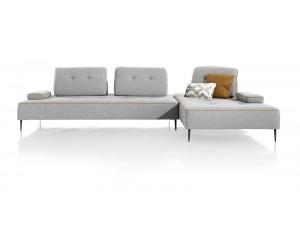Canapé modulable en tissu gris clair