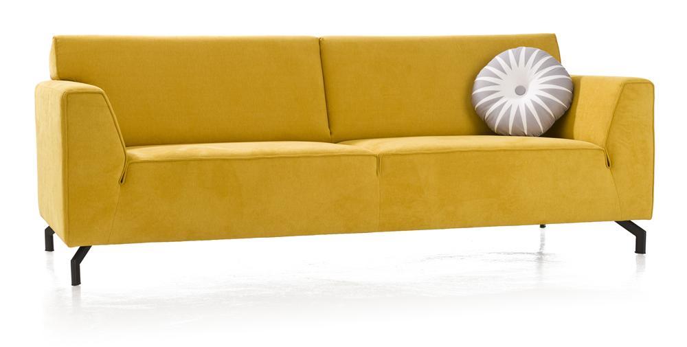Canapé contemporain jaune
