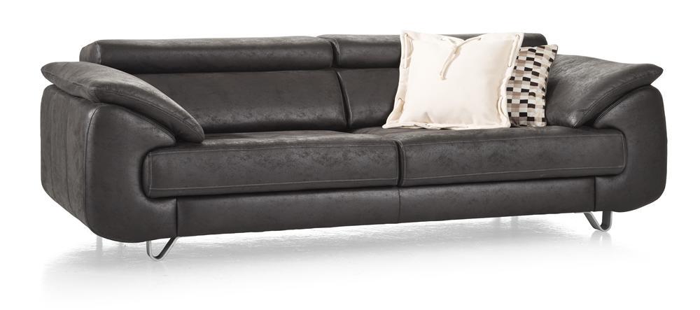 Canapé cuir foncé contemporain