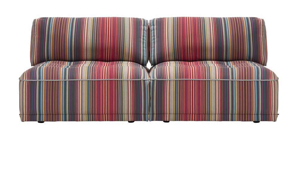 Canapé modulable à rayures colorées