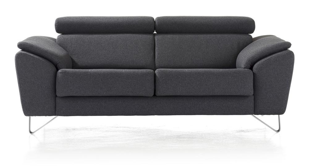 Canapé moderne en tissu gris foncé