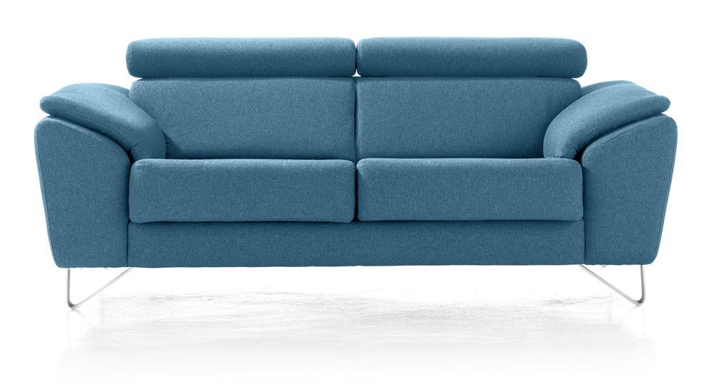 canapé 2,5 places design bleu
