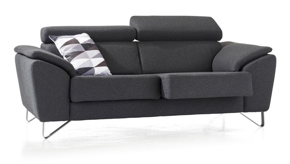 canapé 2,5 places design noir