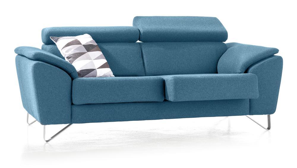 Canapé moderne tissu bleu