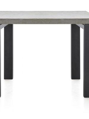 Table à manger Toro plateau béton gris pieds noirs