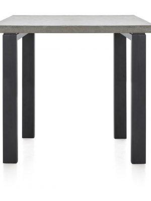 Table de bar plateau béton pieds métalliques noirs