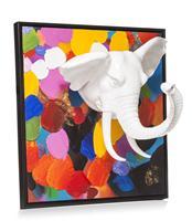 YOU D multi color elephant schilderij persp