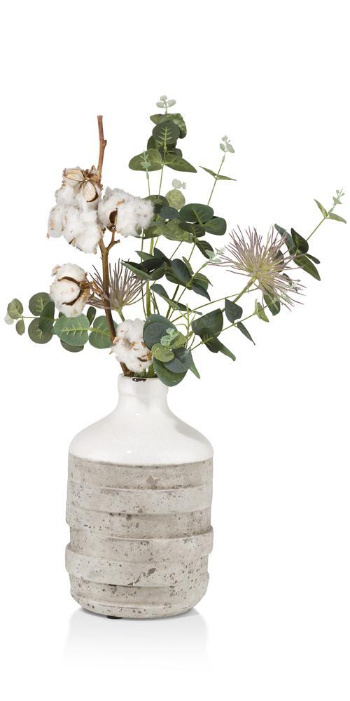 cma wit vaas remmy front bloem