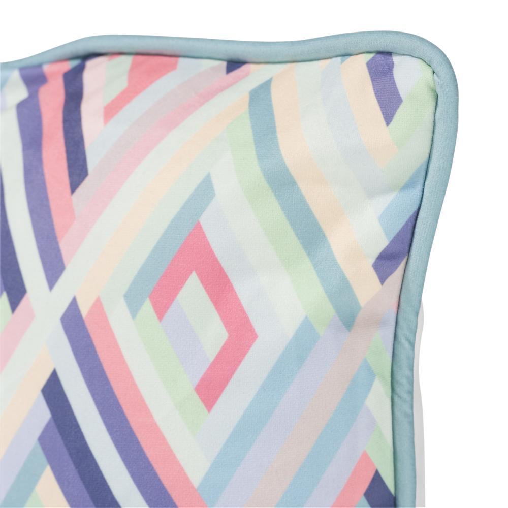 Coussin carré couleurs pastels