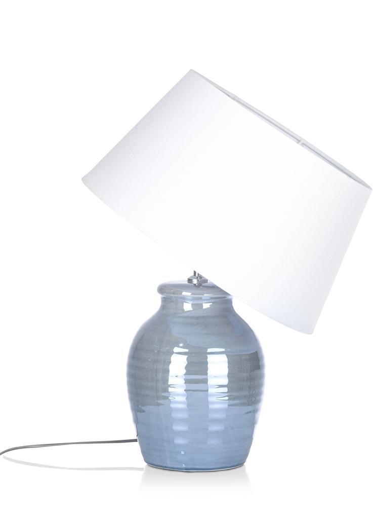 Lampe à poser abat jour blanc