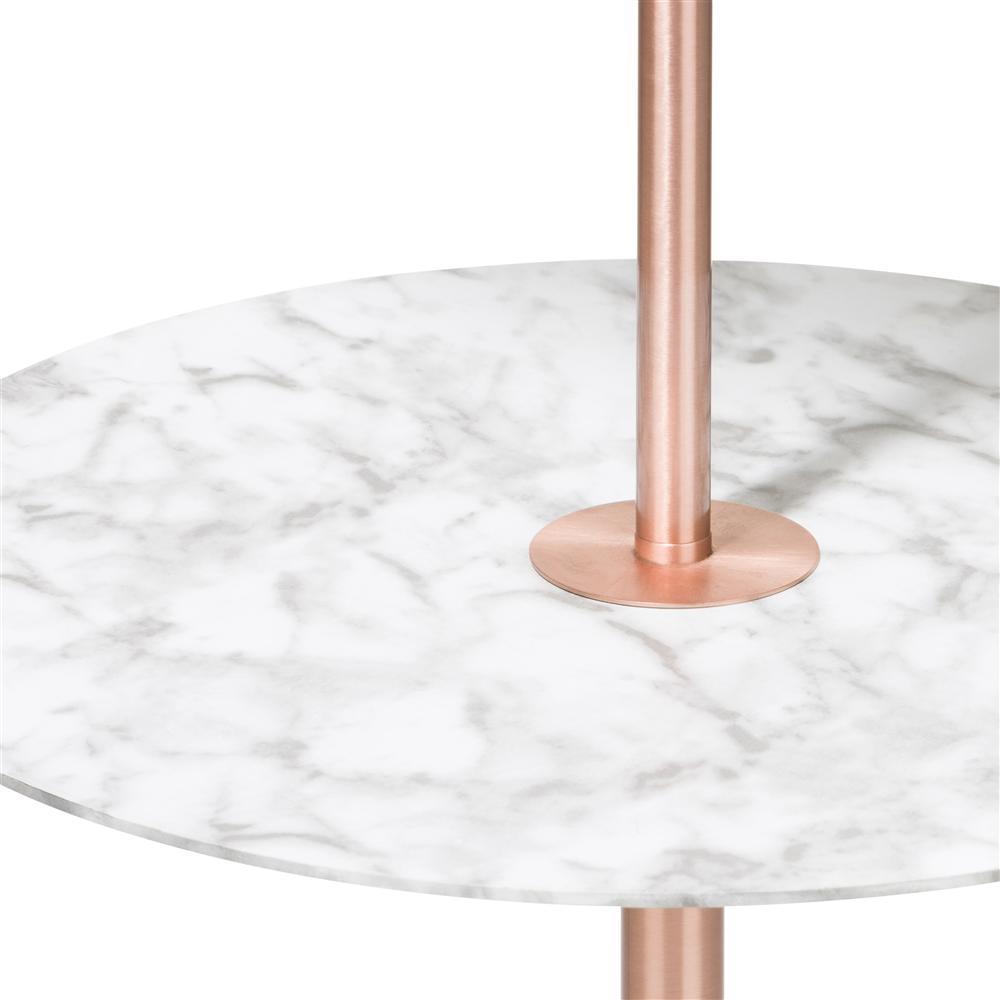 Luminaire sur pied cuivre et marbre