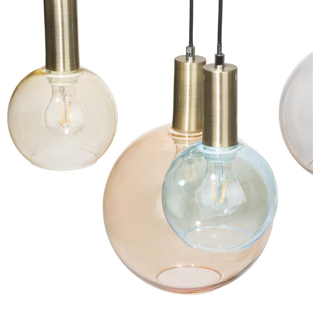 Suspension luminaire boules 7 ampoules