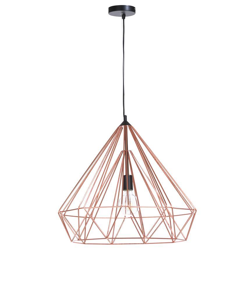 Suspension luminaire géométrique rose gold