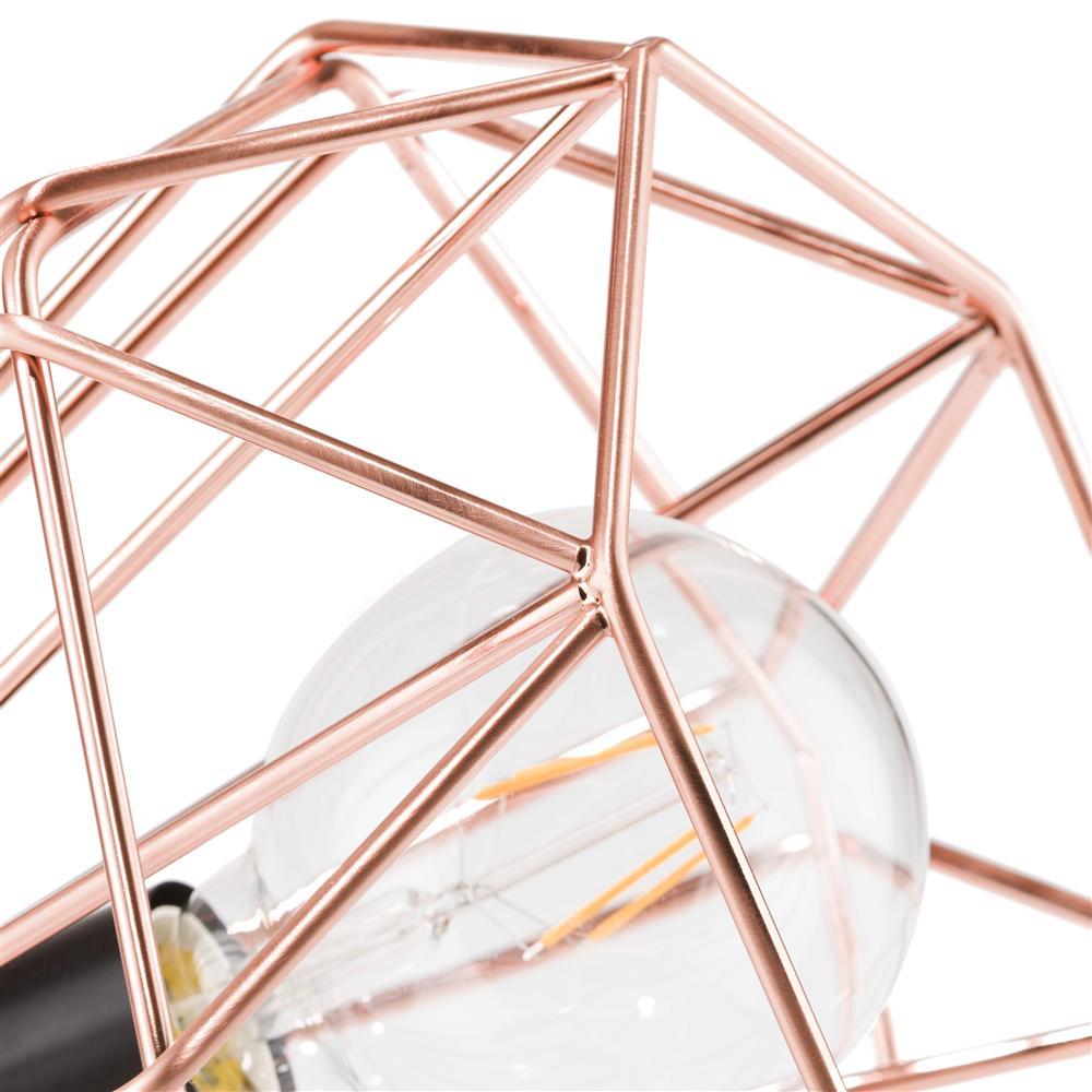 Lampe à poser géométrique rose gold