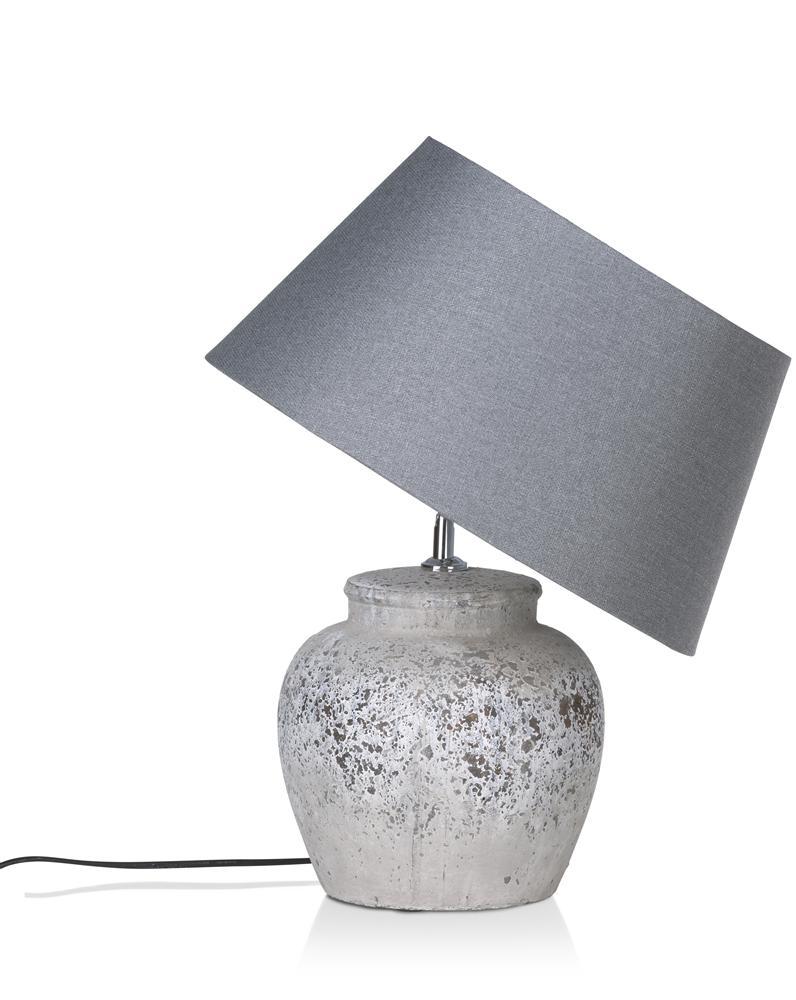 Lampe à poser abat jour gris