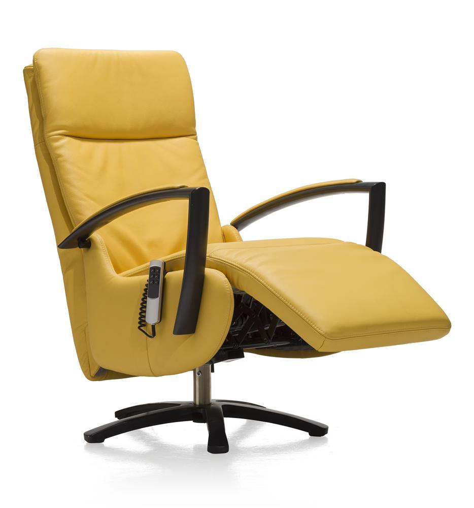 Fauteuil de relaxation électrique couleur jaune