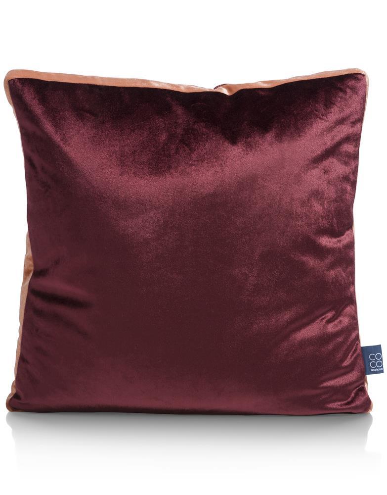 Coussin carré velours rouge