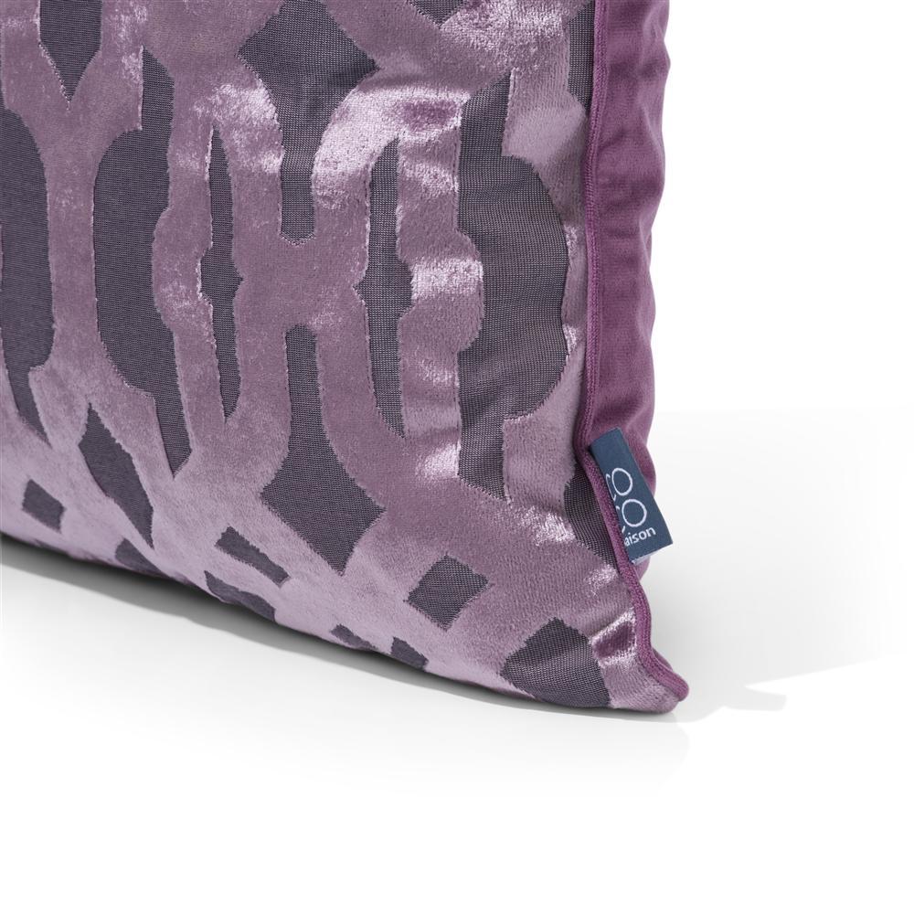 coussin carré violet chic