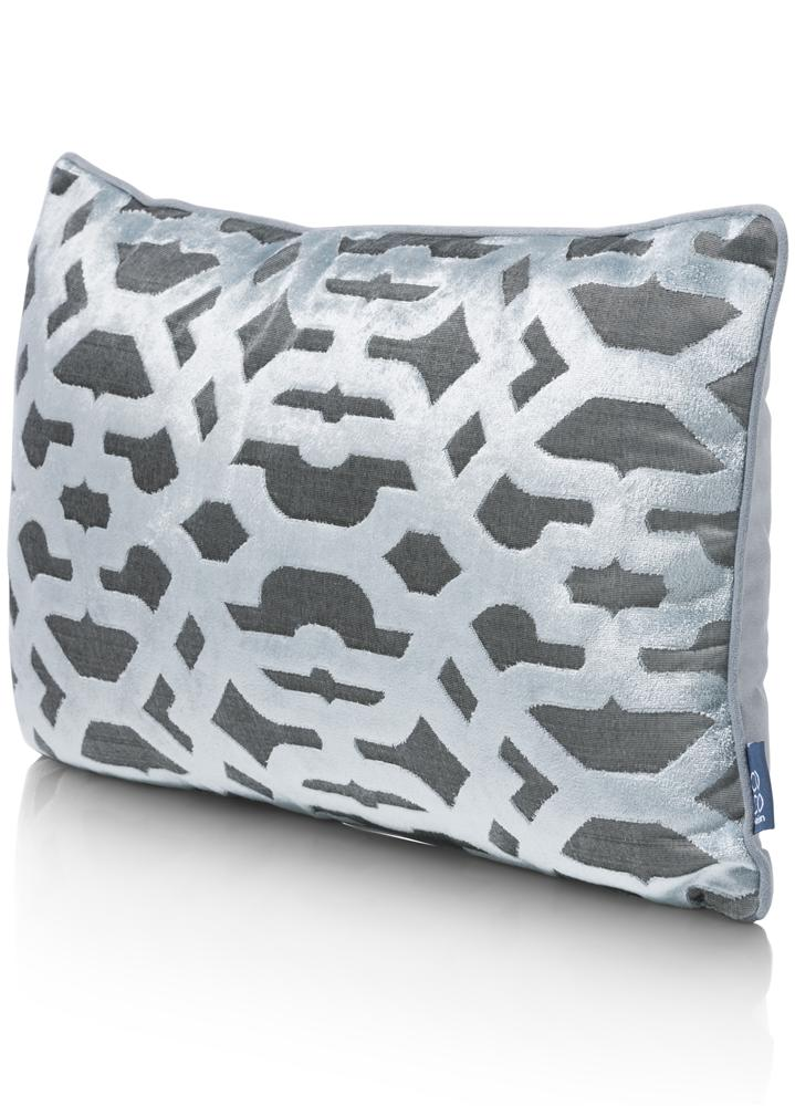 Coussin rectangulaire gris chic