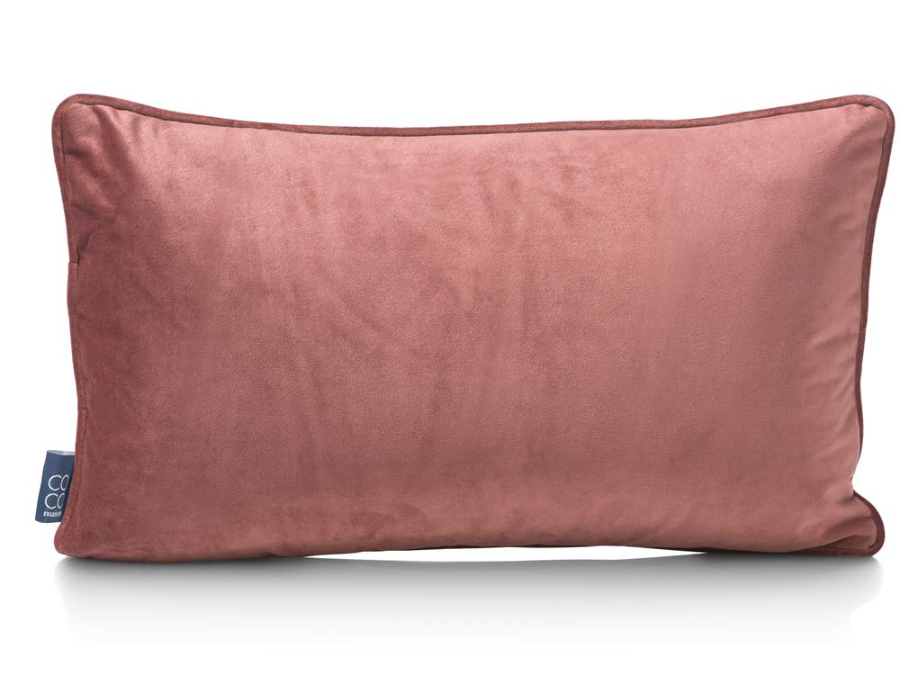 Coussin rectangualire rouge rose or