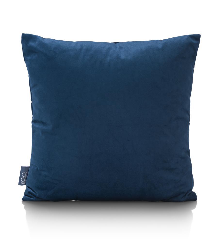 coussin carré bleu design