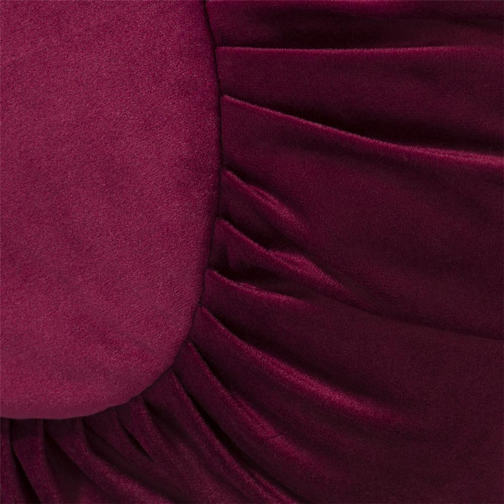 coussin rond rouge