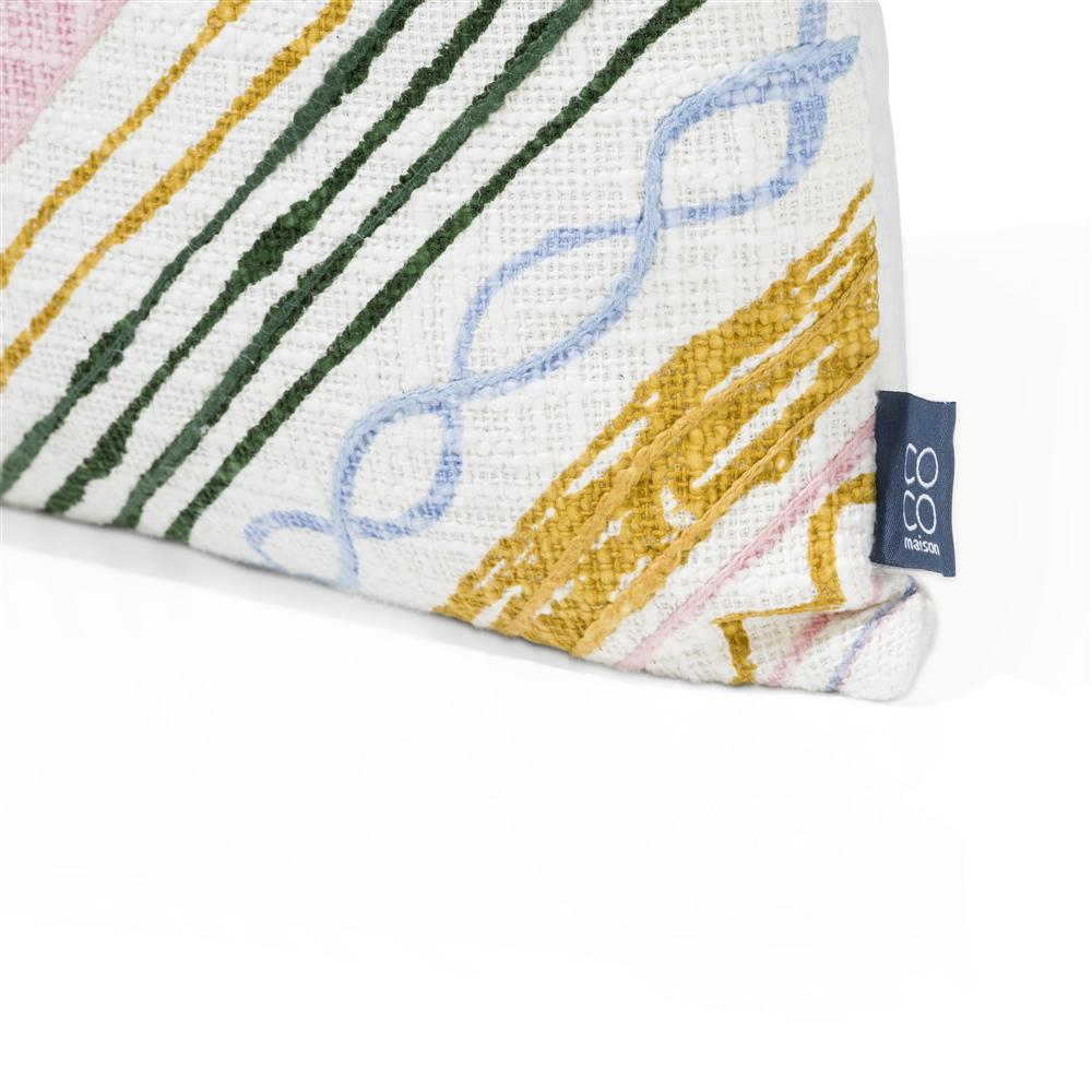 coussin carré coloré à franges