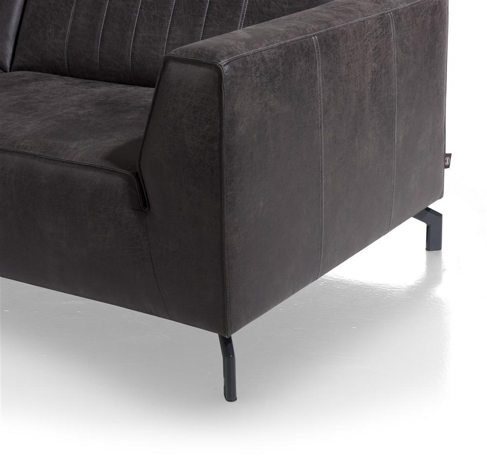 canapé cuir gris