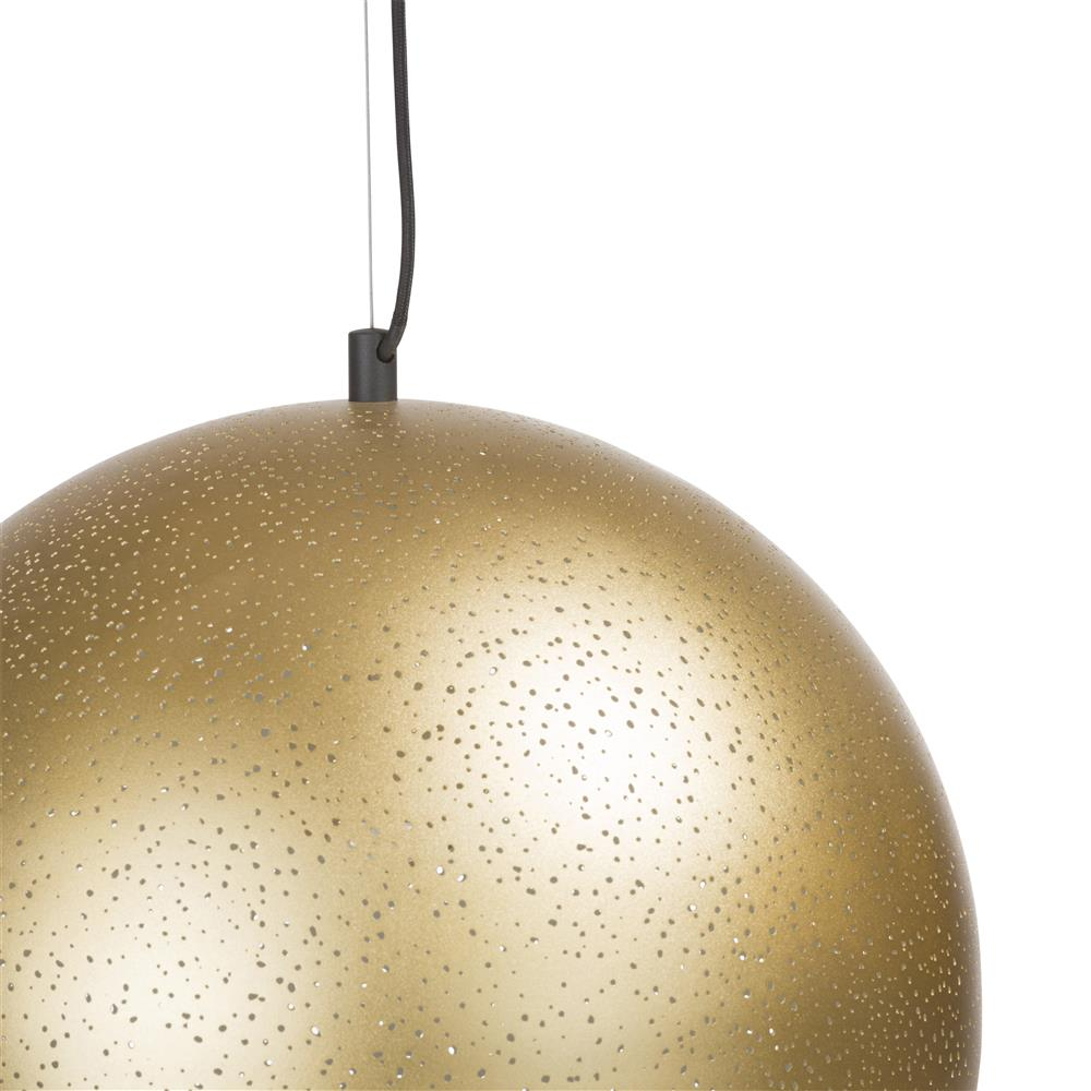 Suspension luminaire boule gold