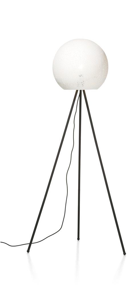 Lampe sur pied noire et blanche