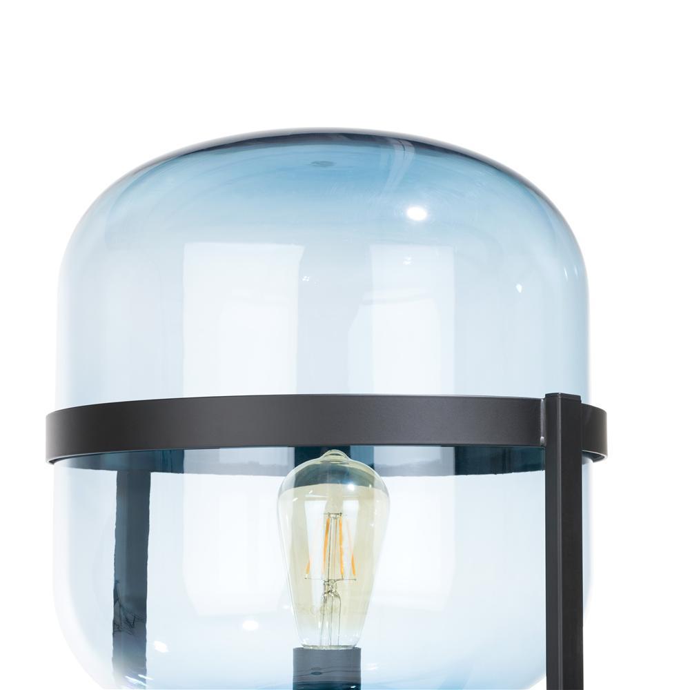 Lampe sur pied bleu noir