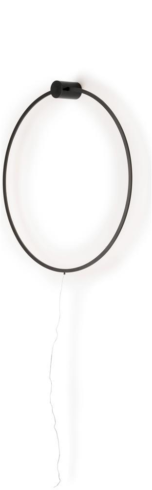 Suspension luminaire murale noire design minimaliste noir