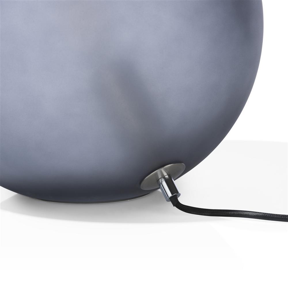 Lampe à poser boule grise