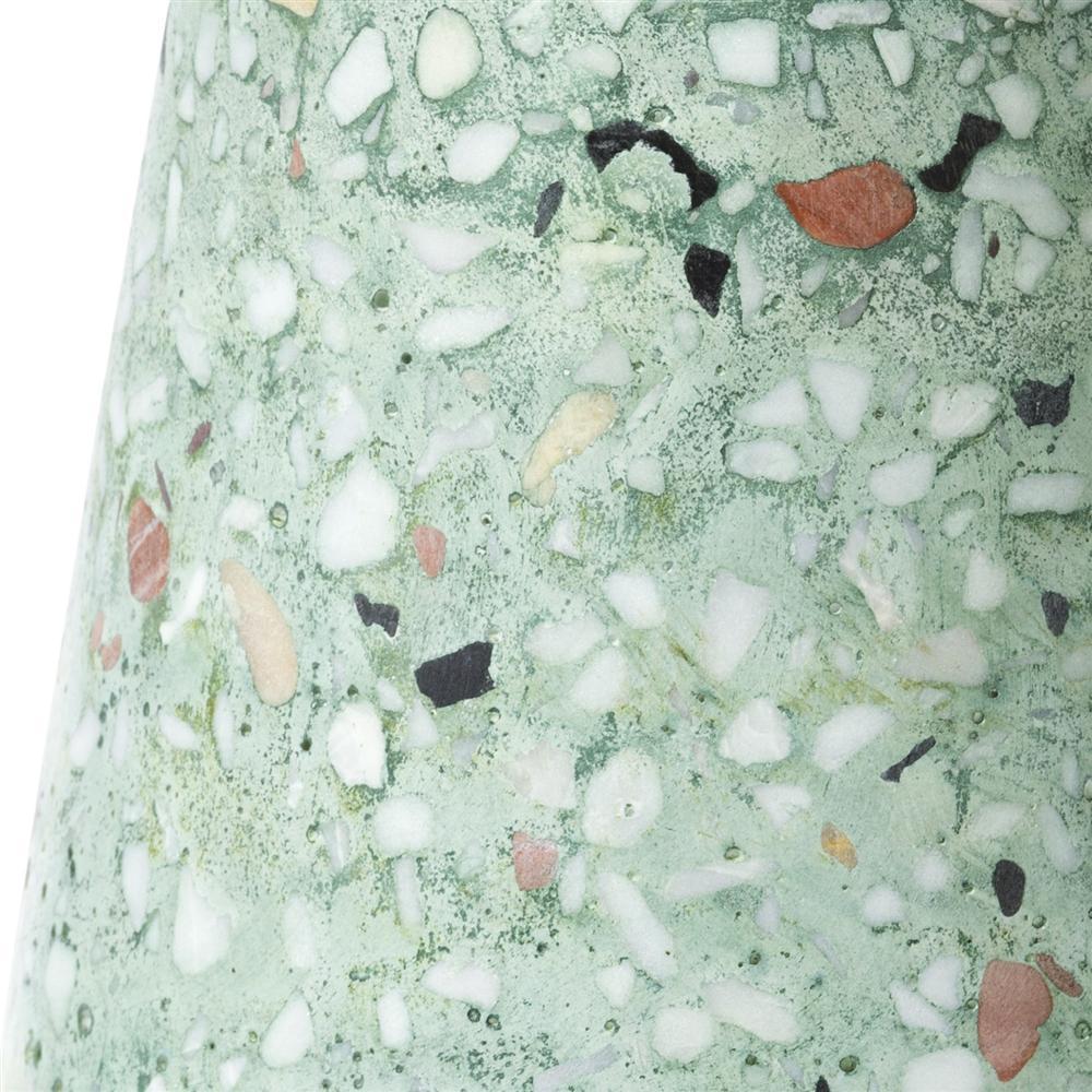 Lampe à poser style mosaïque verte