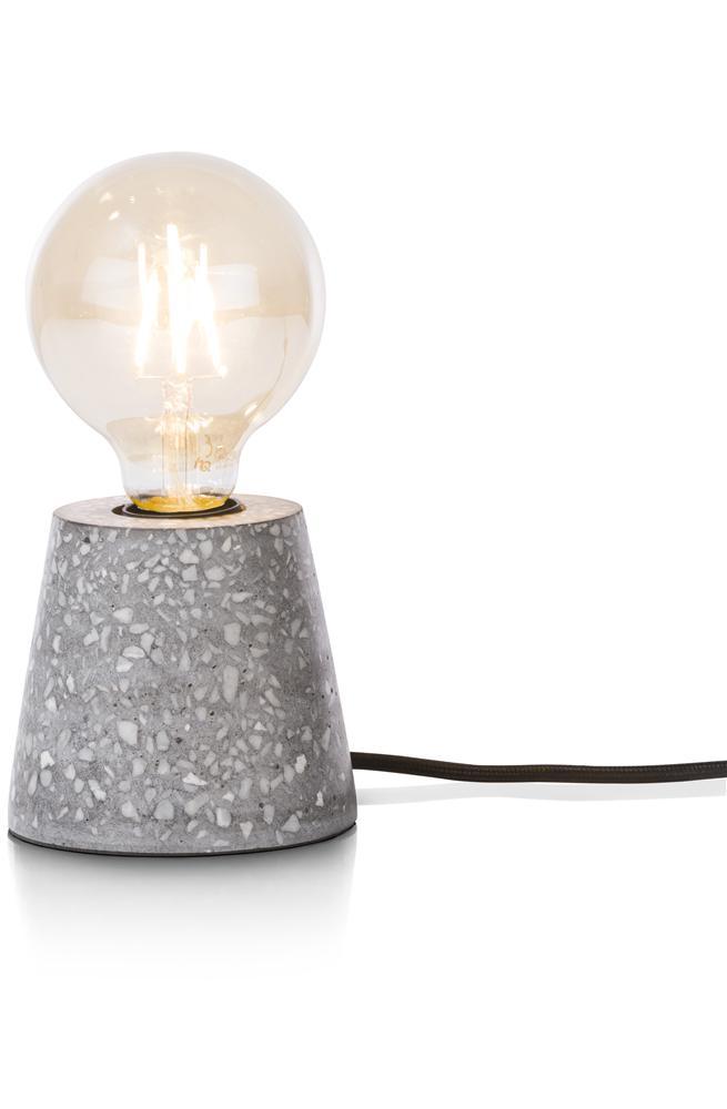 Lampe à poser style mosaïque grise